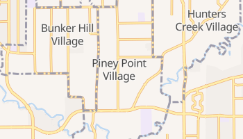 Piney Point Village, Texas map