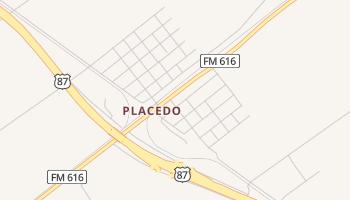 Placedo, Texas map