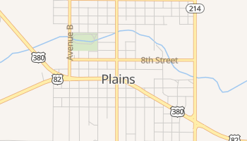 Plains, Texas map