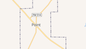 Point, Texas map