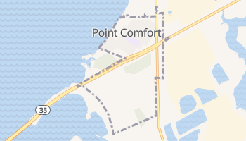 Point Comfort, Texas map