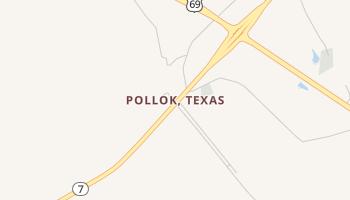 Pollok, Texas map