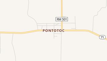 Pontotoc, Texas map