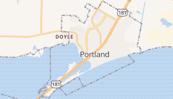 Portland, Texas map