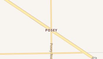 Posey, Texas map