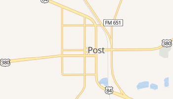 Post, Texas map