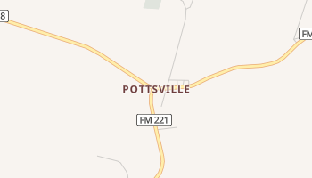 Pottsville, Texas map