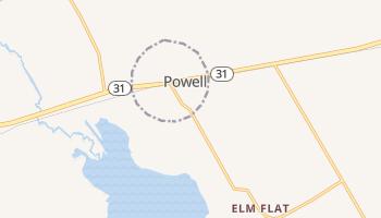 Powell, Texas map