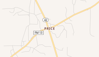 Price, Texas map