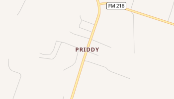 Priddy, Texas map