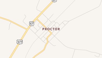 Proctor, Texas map