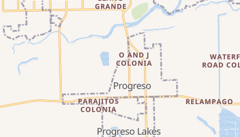 Progreso, Texas map
