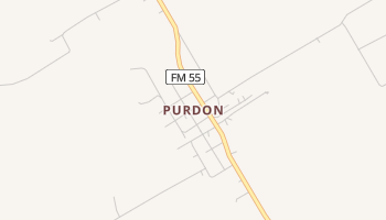 Purdon, Texas map