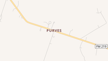 Purves, Texas map