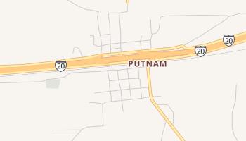 Putnam, Texas map