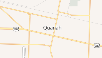 Quanah, Texas map