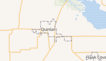 Quinlan, Texas map
