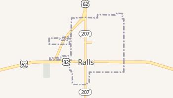 Ralls, Texas map