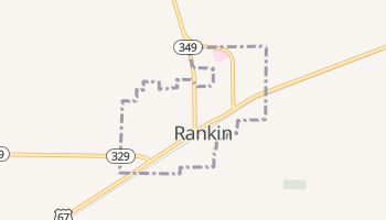 Rankin, Texas map