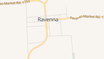 Ravenna, Texas map
