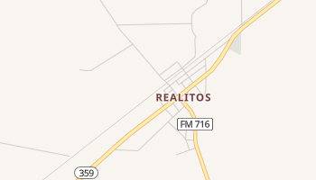 Realitos, Texas map