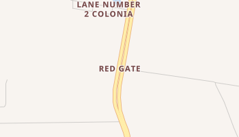 Red Gate, Texas map