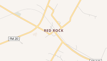 Red Rock, Texas map