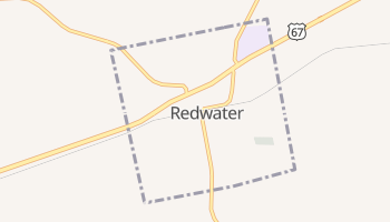 Redwater, Texas map