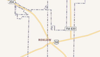 Reklaw, Texas map