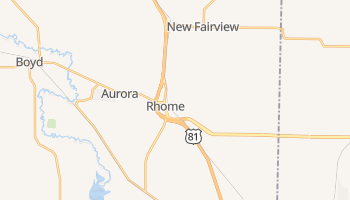 Rhome, Texas map
