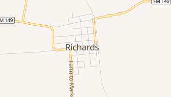 Richards, Texas map