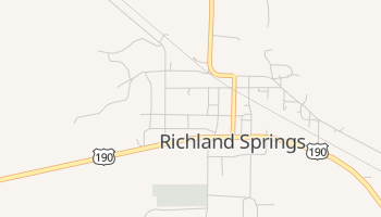 Richland Springs, Texas map