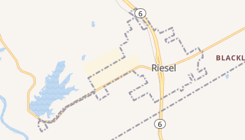 Riesel, Texas map