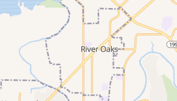 River Oaks, Texas map