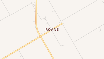 Roane, Texas map
