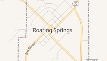 Roaring Springs, Texas map