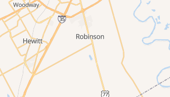 Robinson, Texas map