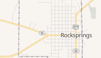 Rocksprings, Texas map
