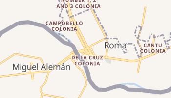 Roma-Los Saenz, Texas map
