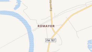Romayor, Texas map