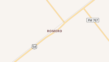 Romero, Texas map