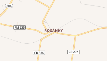 Rosanky, Texas map