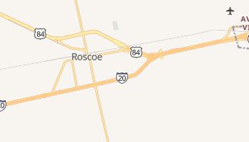 Roscoe, Texas map