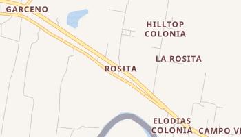 Rosita, Texas map