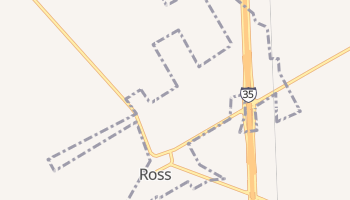 Ross, Texas map