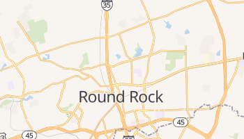 Round Rock, Texas map