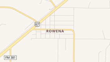 Rowena, Texas map