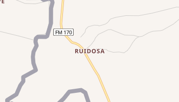 Ruidosa, Texas map