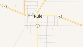 Rule, Texas map