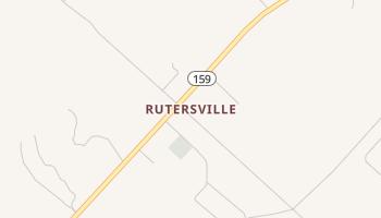 Rutersville, Texas map